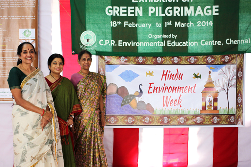 The banner for Hindu Environment Week, part of the Green Pilgrimage Exhibit