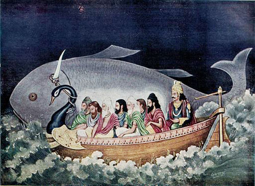 512px-The_fish_avatara_of_Vishnu_saves_Manu_during_the_great_deluge