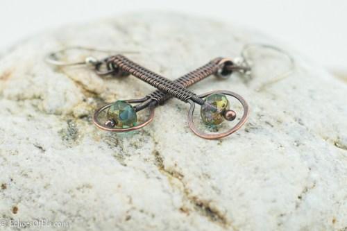 Wire weave earrings