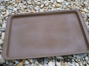 spray painted cookie sheet