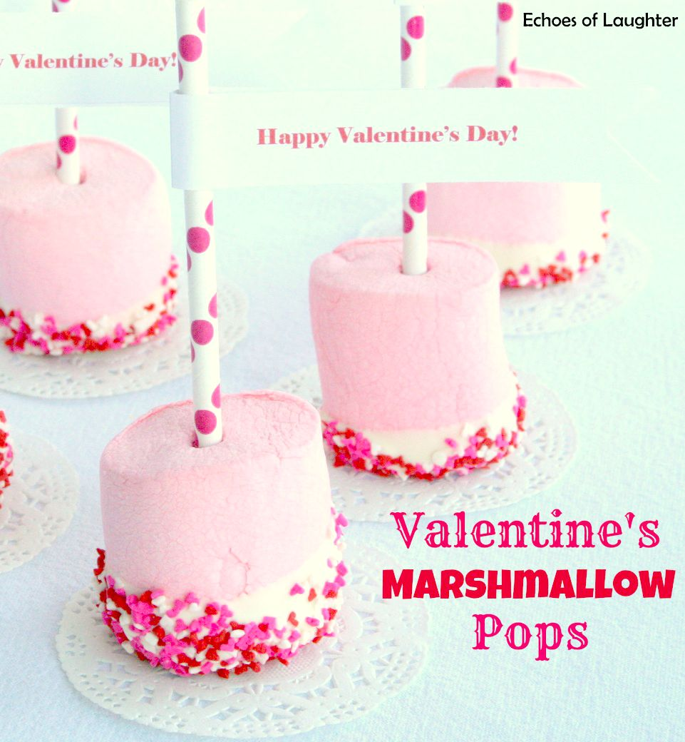 Valentines Marshmallow Pops Echoes Of Laughter