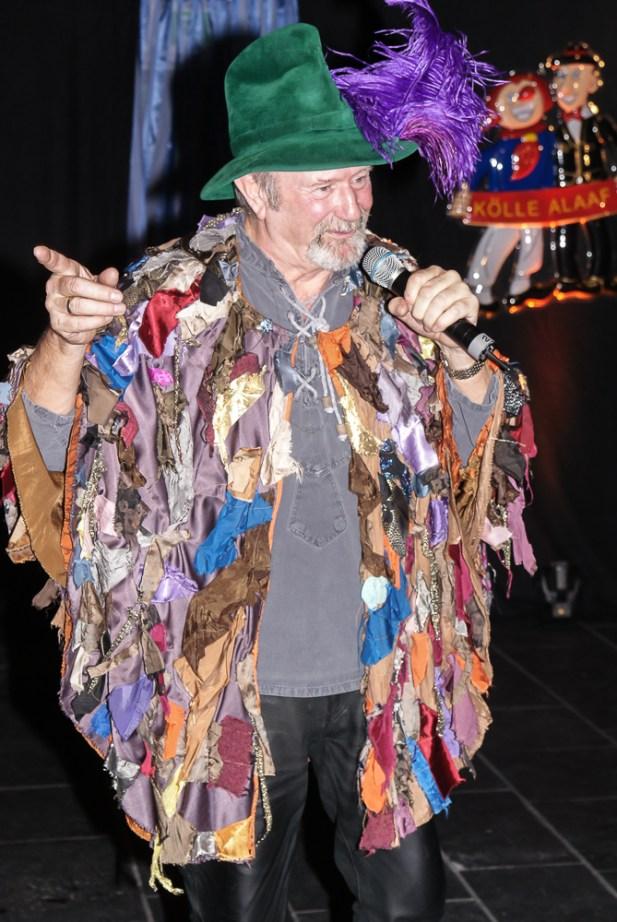 Et Rumpelstilzchen (Fritz Schopps) bei der Karnevalssitzung 2014 des Echofunk Porz