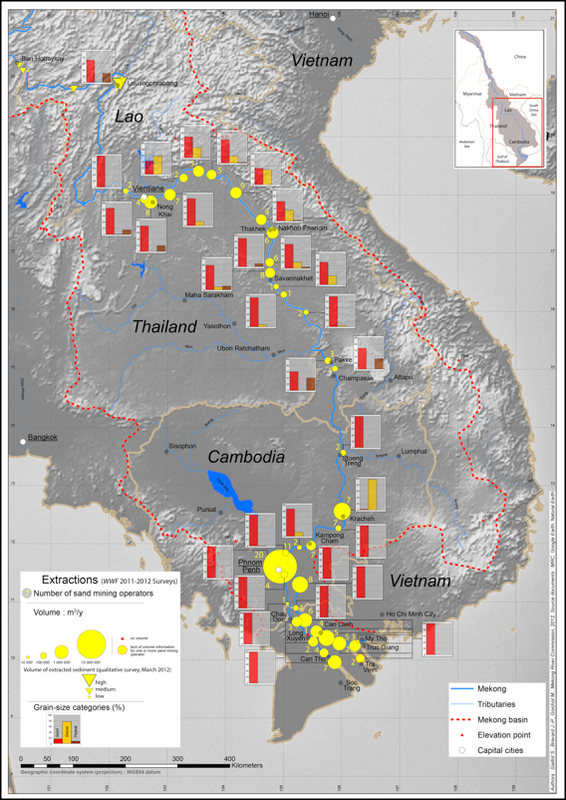 Geography of Sand and Gravel Mining in the Lower Mekong River