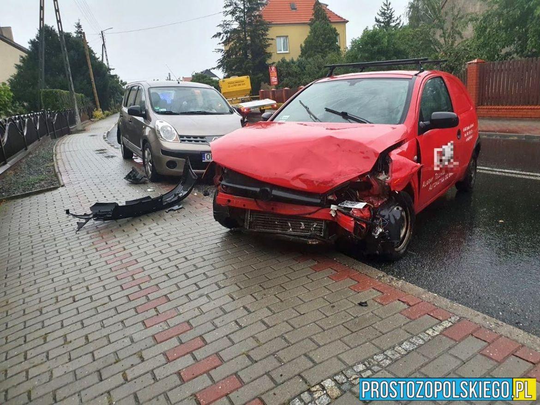 Jedna osoba ranna w wypadku w Dobrzeniu Wielkim 5