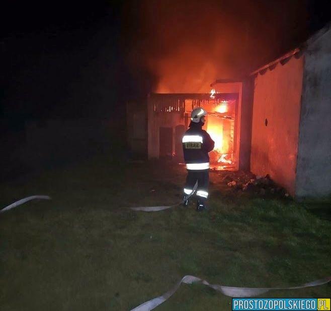Pożar budynku gospodarczego w Jełowej 1