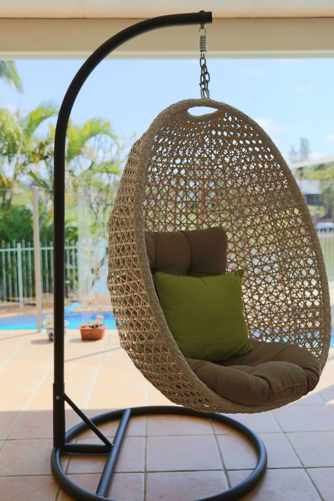 Outdoor Hanging Egg Chair Hanging Egg Chair Out Door Furniture Brisbane Designer