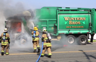 Garbage Truck Fire