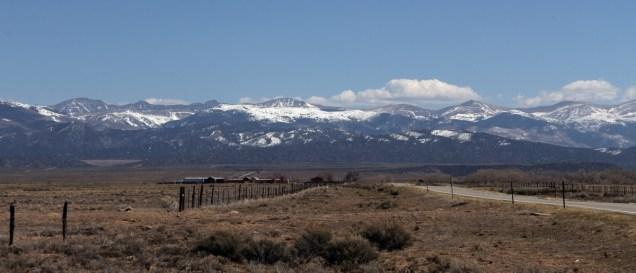 Southern Sangre de Cristos, from Highway 142, San Luis, CO.