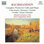 Sergei Rachmaninoff - Complete Works for Cello and P