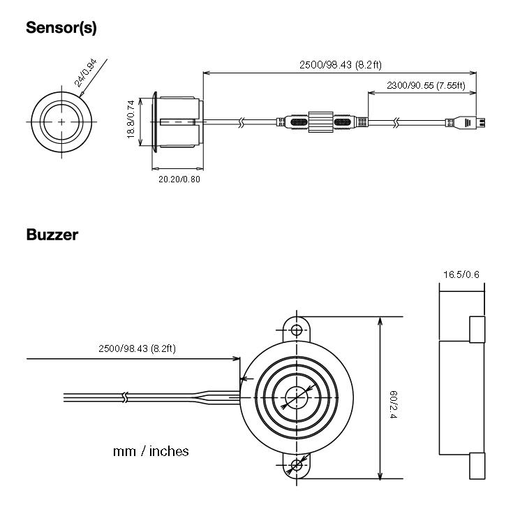 Back-up Sensor System from EchoMaster in Matte Black