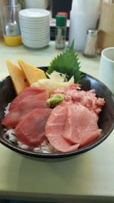 My bowl of tuna goodness!
