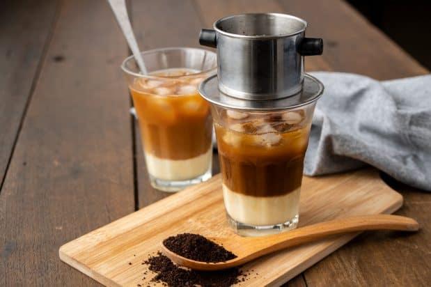 2 Caphe Sua Da généreux  Le café glacé vietnamien