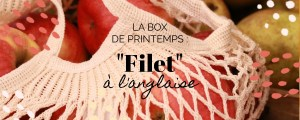 box printemps filet à provision écru en coton fabriqué en france rempli de pomme rouge