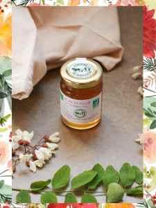 confit de fleur bio à base de fleurs comestibles d'acacia bio par l'herbier Saint-Fiacre, à retrouver dans la box jardinage bio de l'échoppe végétale pour la fête des mères