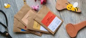 kit fleurs mellifères sur balcon, bio, fleurs pour les abeilles comestibles, bourrache, capucine, coquelicot, souci