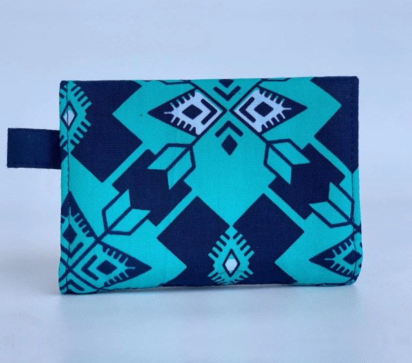 Changgih Blue-Teal Mini Wallet Back