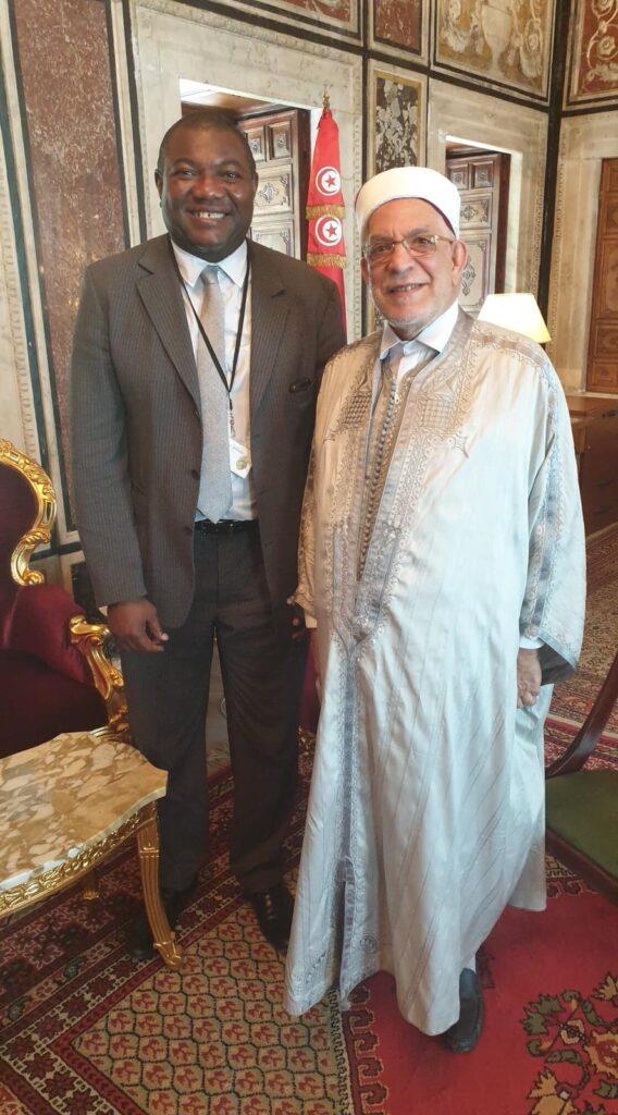 Jean Eric Sendé reçu par Monsieur Abdelfattah Mourou Président de l'assemblée nationale de Tunisie