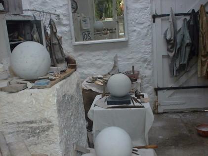 Hepworth's studio