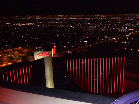 one of the views from 51st floor Voodoo Lounge Rio Hotel Las Vegas
