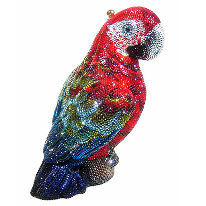 scarlet parrot by judith leiber  with crystal