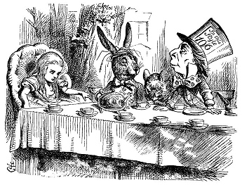 tea party madness, whatever did they put in the tea?