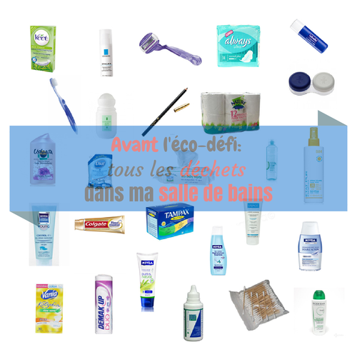 Tous les déchets de ma salle de bains