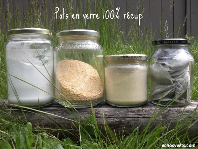Pots en verre 100% récup- échos verts