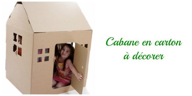 cabane en carton- cadeau écolo