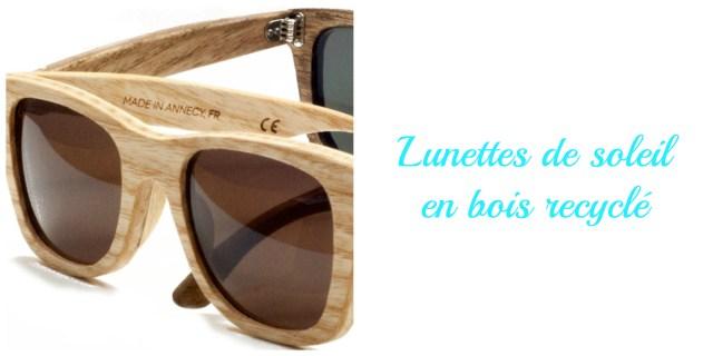 Lunettes de soleil en bois fabriquée en France- idée cadeau écolo