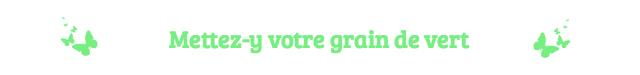 Mettez-y votre grain de vert laisser un commentaire echosverts.com
