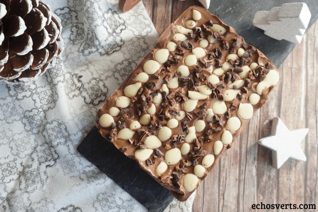 Bûche amandes poires chocolat echosverts-com