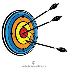 Gráficos de vetor de flechas no alvo - Imagem vetorial livre em ...