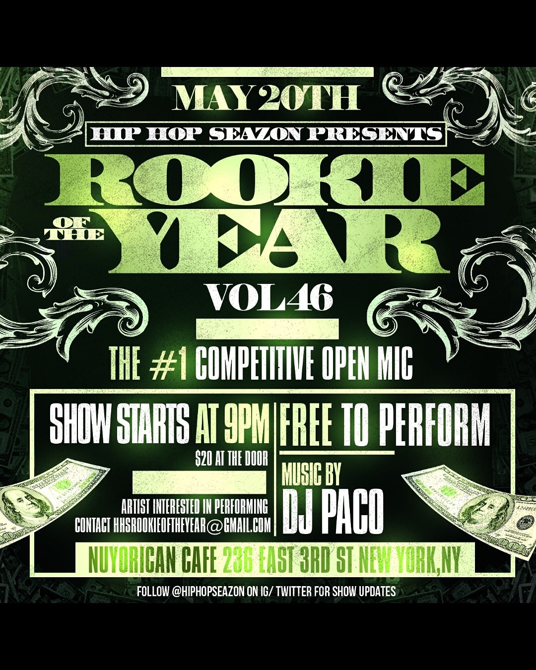 CAN I HAVE YOUR ATTENTION PLEASE ? New York, NY!!! On May 20th Please Go Support My Man Rogues Pierre At The #1 Open Mic Competition!