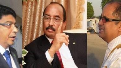 صورة محسن ولد الحاج يروض ولد محم والشيوخ يقاطعون دعوة الحزب للمرة الثانية