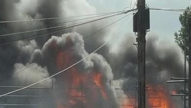 صورة منزل المدير العام لشركة (A.T.T.M)  يتعرض لحريق كبير