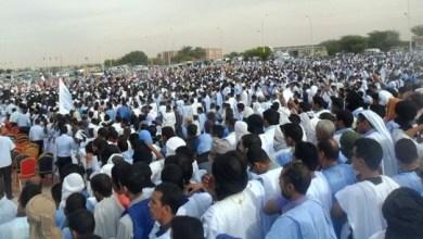 صورة بعد دعوة الشيخ على الرضا آلاف الموريتانيين يشاركون في مهرجان حاشد للمطالبة بإعدام المسيئ للرسول (ص)