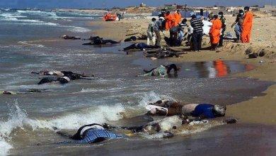 صورة مقتل 10 مهاجرين وفقدان نحو 100 شخص قبالة ليبيا