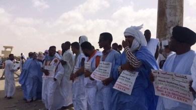 صورة بوتلميت : وقفة إحتجاجية في أبي تلميت ضد تصريحات عمدة أزويرات حول النشيد الوطني