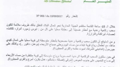 صورة موريتانيا: الأرصاد الجوية تحذر من وقوع عواصف وأمطار قوية