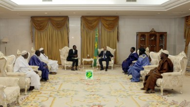 صورة موريتانيا: أئمة وشيوخ محاظر كيدي ماغه في ضيافة الرئيس