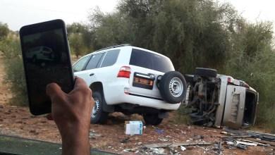 صورة كوركول : إصابة موظف في الرئاسة وعمدة  بلدية آيرا امبار في حادث سير( صورة الحادث)