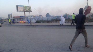 صورة نواكشوط: شغب واستنفار أمني تزامنا مع محاكمة ولد أمخيطير