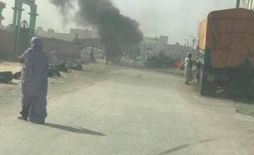 صورة نواكشوط: الشرطة تطوق محيط الرئاسة وتطارد المتظاهرين