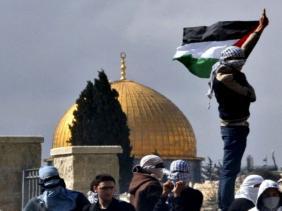 صورة الدعوة لانتفاضة جديدة في الأراضي الفلسطينية ردا على إعلان الرئيس الأمريكي