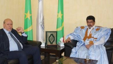 صورة نواكشوط: ولد محم يلتقي رئيس حزب العدالة والبناء الليبي