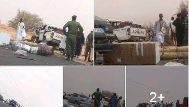 صورة قتلى وجرحى في حادث سير مروع شرق العاصمة نواكشوط
