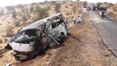 صورة خمسة قتلى وعشرات الجرحى بعد تصادم باصين أحدهما كان في طريقه الى امبود