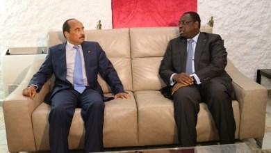 صورة الرئيس السينغالي يزور انواكشوط