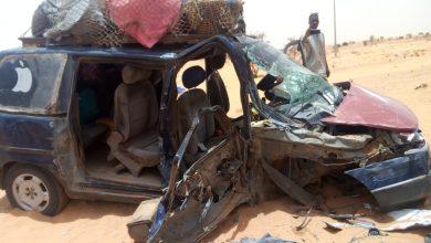 صورة وفاة امرأة وجرح العشرات في تصادم ثلاث سيارات قرب بوتلميت