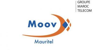 صورة موريتل تحمل العلامة التجارية الجديدة (Moov Mauritel)